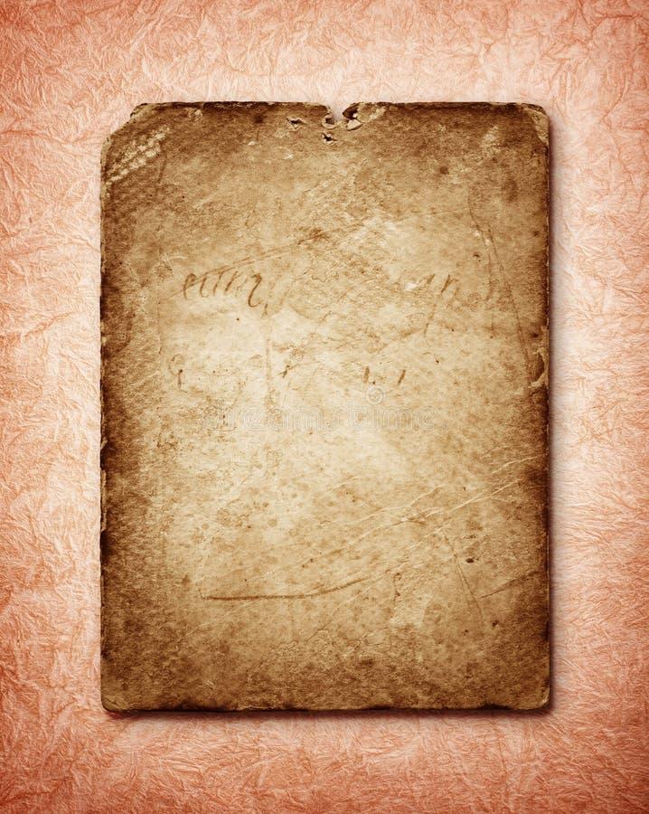 Alter Papierseitenhintergrund lizenzfreies stockbild
