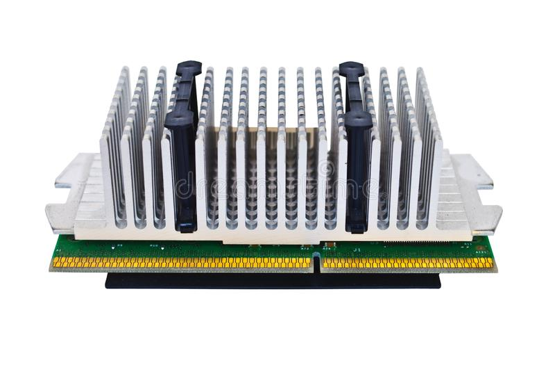 Alter PC-Prozessor lokalisierte lizenzfreies stockbild