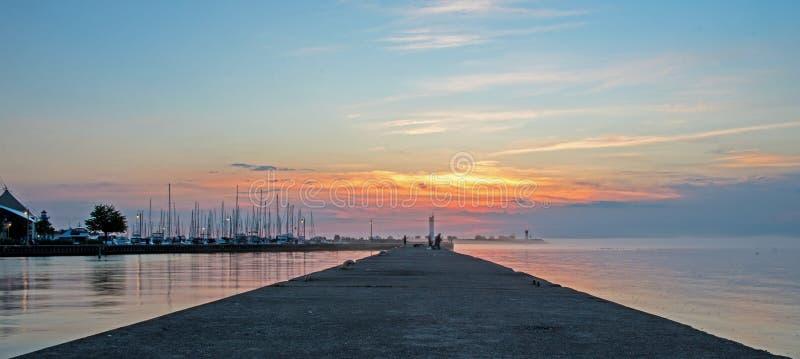 Alter Pier At Bronte, Ontario lizenzfreie stockbilder