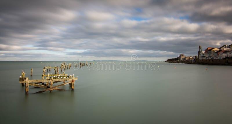 Alter Pier Swanage stockfotos
