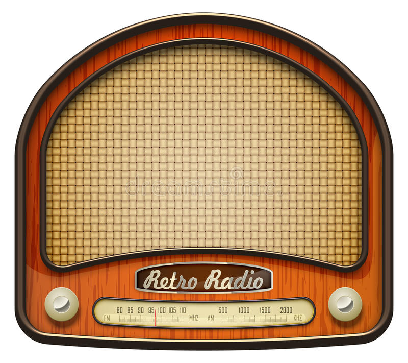 Alter Radio stock abbildung