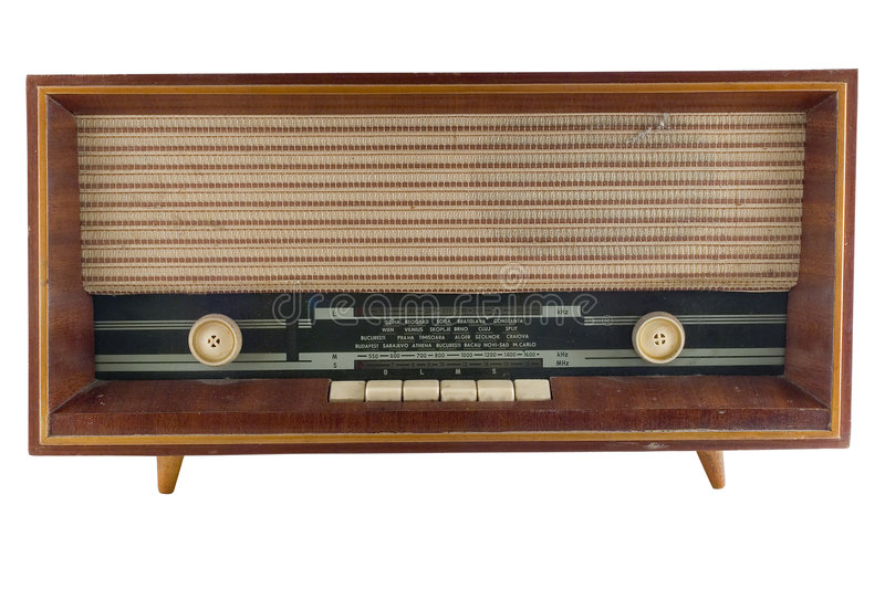 Alter Radiotuner stockbild