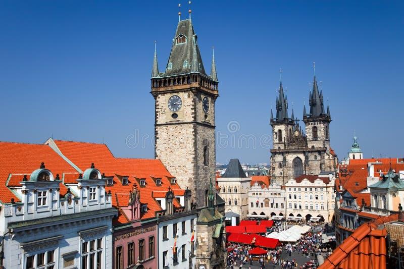 Alter Rathausplatz, Prag stockbild