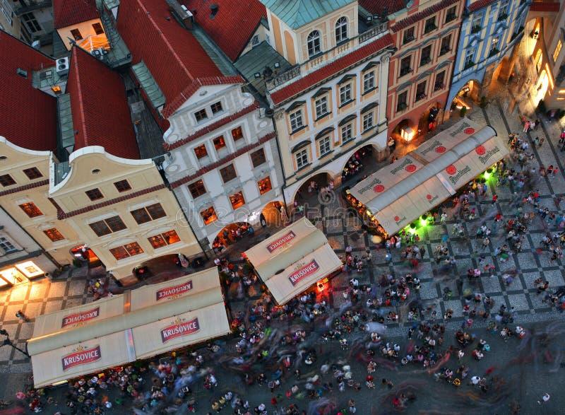 Alter Rathausplatz in Prag stockfotografie