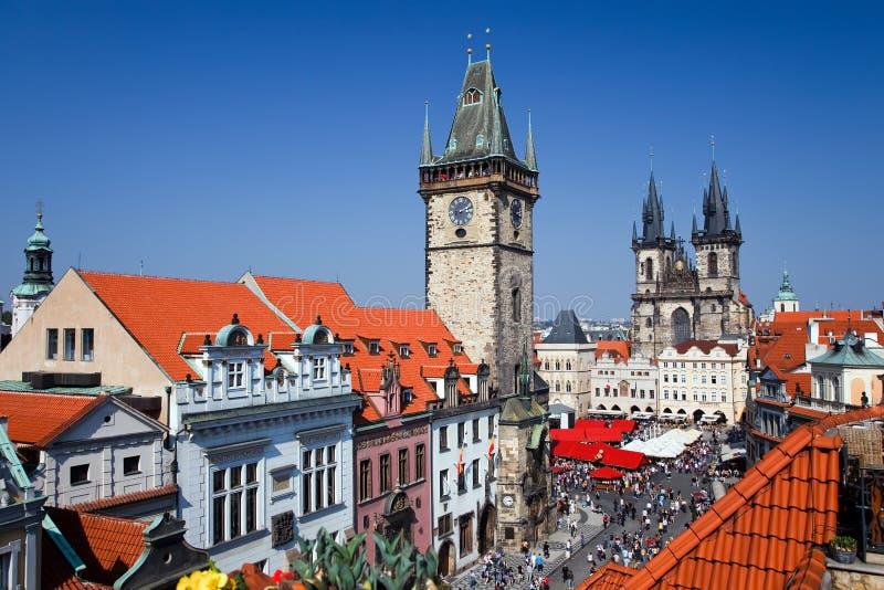 Alter Rathausplatz, Prag stockbilder