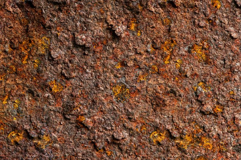Alter rauer Rusty Metal Steel Brown Sheet stockfotografie