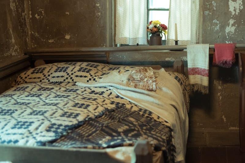 Alter Raum in einem ältesten Haus in Illinois lizenzfreie stockfotos