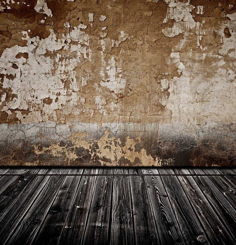Alter Raum mit Wand lizenzfreie stockbilder