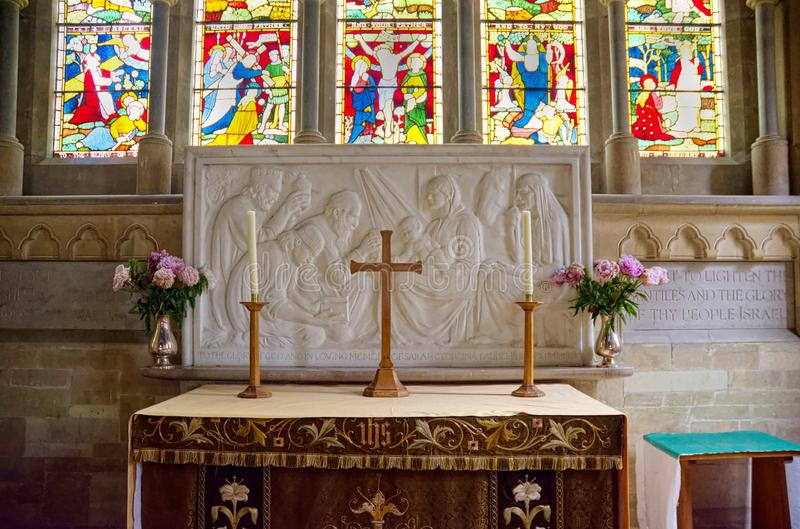 Alter and Reredos. Adoration of the Magi royalty free stock photography