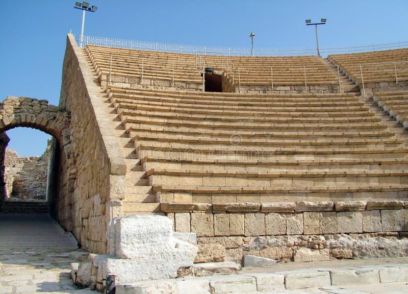 Alter Roman Amphitheater stockfoto