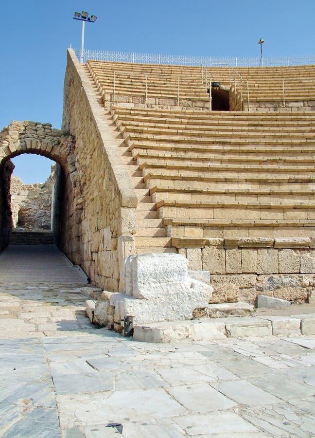Alter Roman Amphitheater lizenzfreies stockbild
