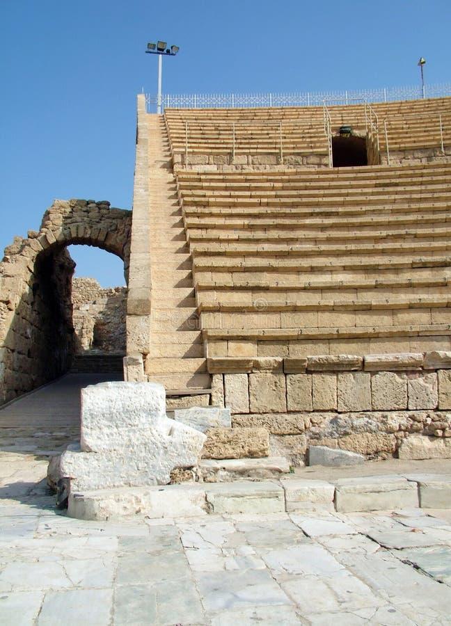 Alter Roman Amphitheater stockbilder