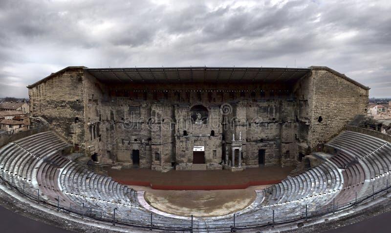 Alter Roman Theatre der Orange, Vaucluse, Frankreich stockbilder