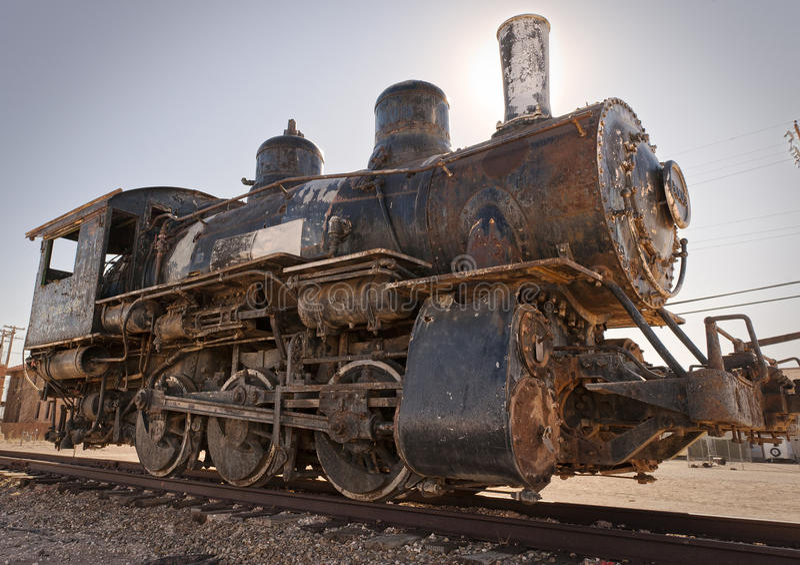 Alter rostiger Dampf-Motor lizenzfreie stockfotografie