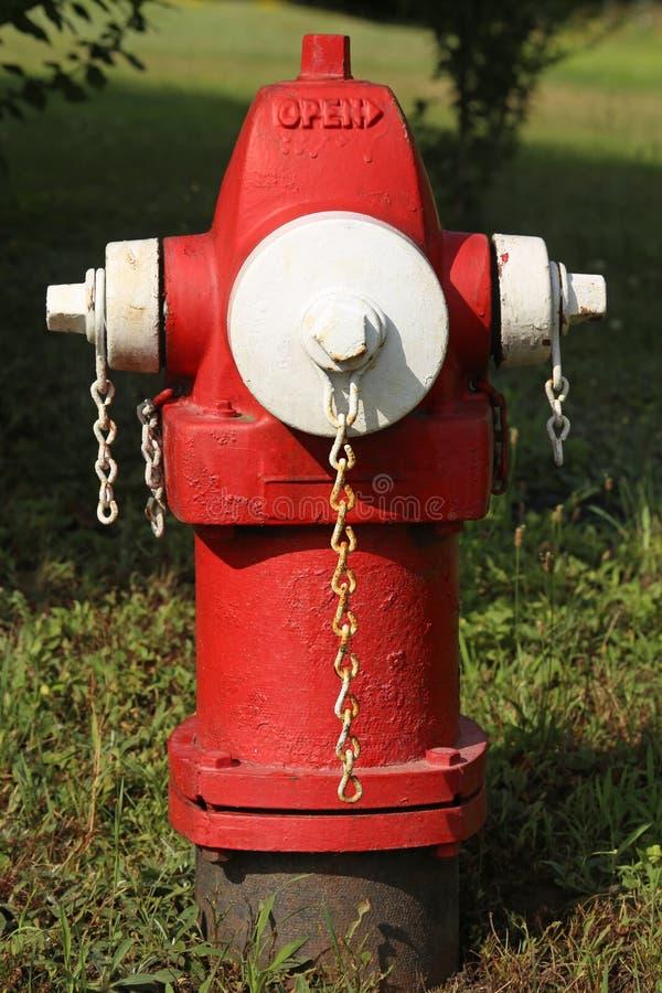 Alter rostiger Hydrant, ein vertikales Bild lizenzfreie stockbilder