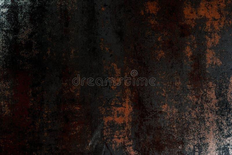 Alter rostiger metallischer schwarzer Hintergrund stockbild