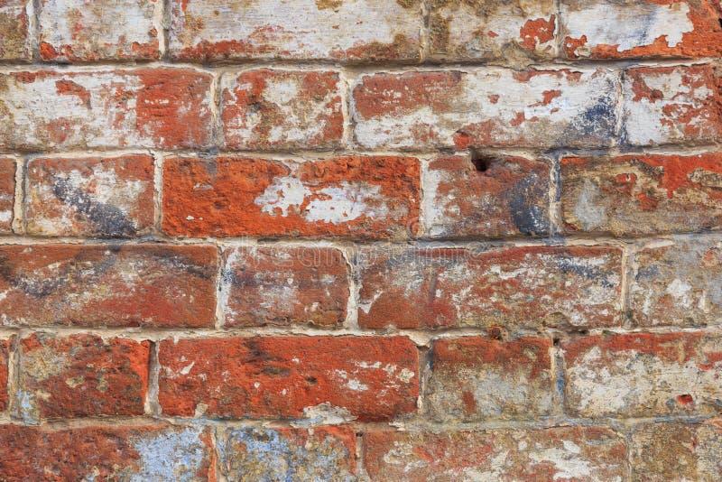Alter roter Backsteinmauerbeschaffenheitshintergrund lizenzfreie stockfotos