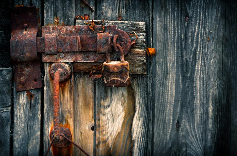 Alter Rusty Padlock lizenzfreie stockfotos