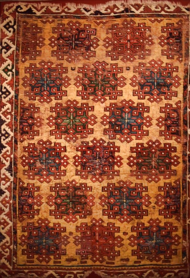 Alter schäbiger Teppich stockfoto