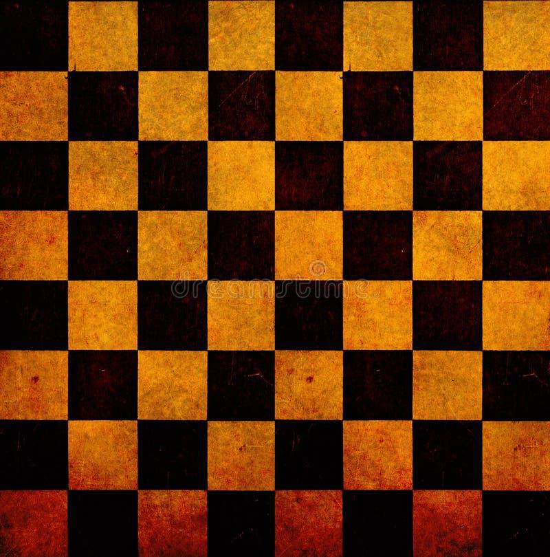 Alter Schachbrett-Hintergrund lizenzfreies stockbild