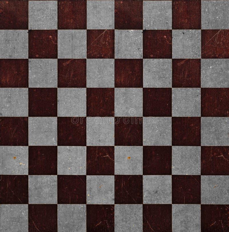 Alter Schachbrett-Hintergrund stockbilder