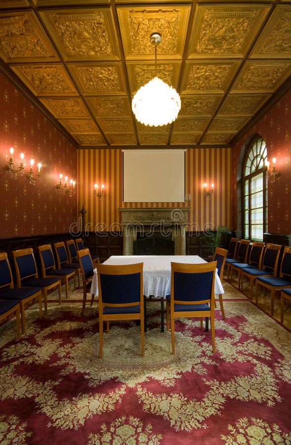Alter Schlossraum lizenzfreies stockbild