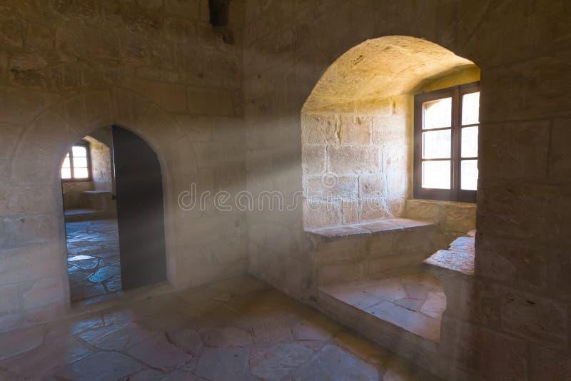 Alter Schlossraum stockfotos