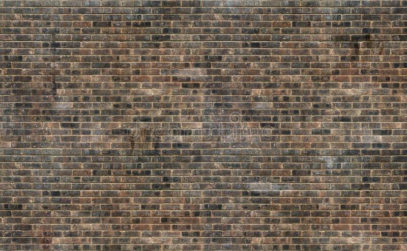 Alter Schmutzbraunbacksteinmauer-Beschaffenheitshintergrund stockbilder
