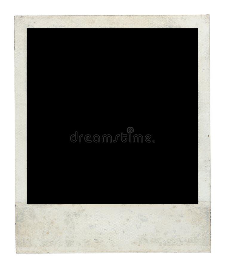 Alter schmutziger polaroidrahmen-Vorderseite stockbild