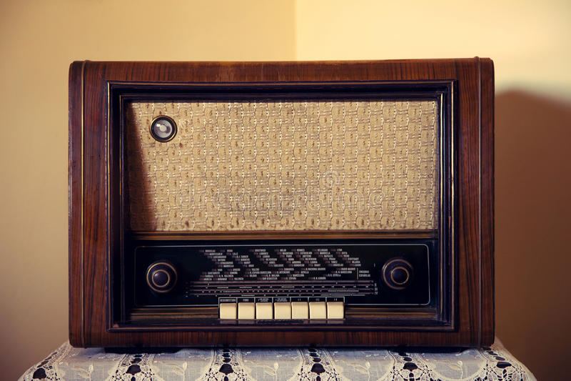 Alter seltener Radio stockbild
