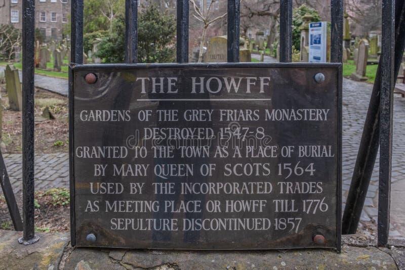 Alter Signage von Dundees-Geschichte in Schottland lizenzfreie stockbilder