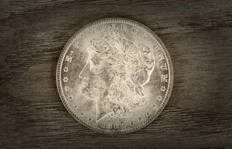 Alter silberner Dollar stockfotografie