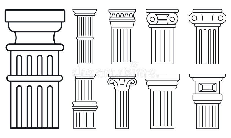 Alter Spaltenikonensatz, Entwurfsart stock abbildung