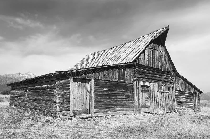 Alter Stall - Grayscale lizenzfreies stockfoto