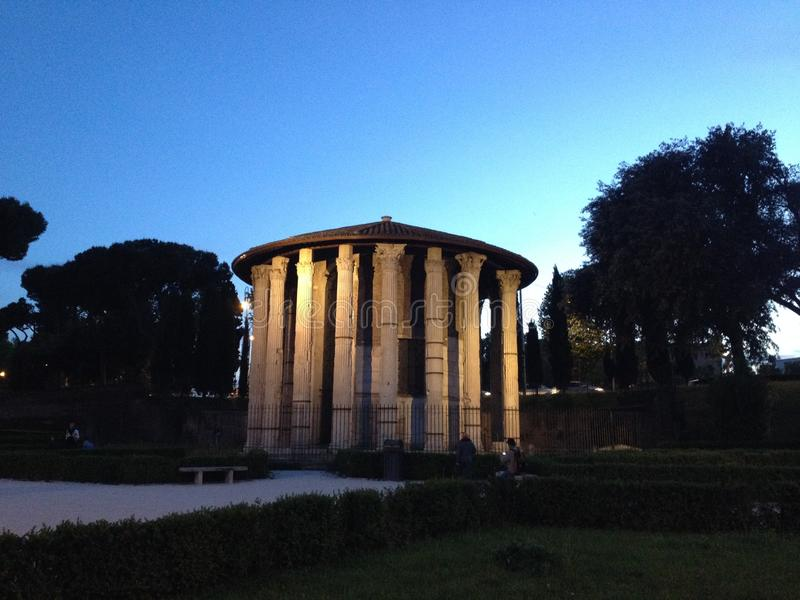 Alter Standort in Rom stockbilder