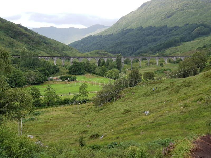 Alter Steinbrücke Harry Potter-Zug Glenn stockfotos