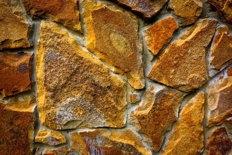 Alter Steinwandabschluß oben stockbild
