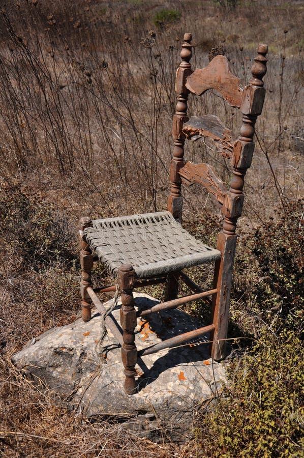 Alter Stuhl stockfoto