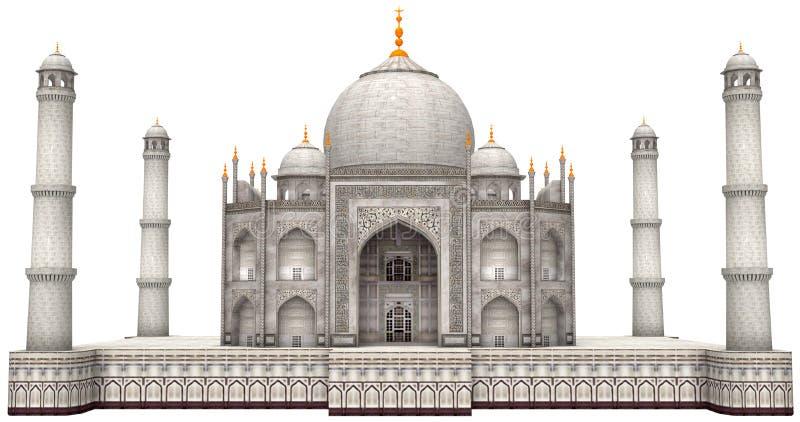 Alter Taj Mahal Illustration Isolated vektor abbildung