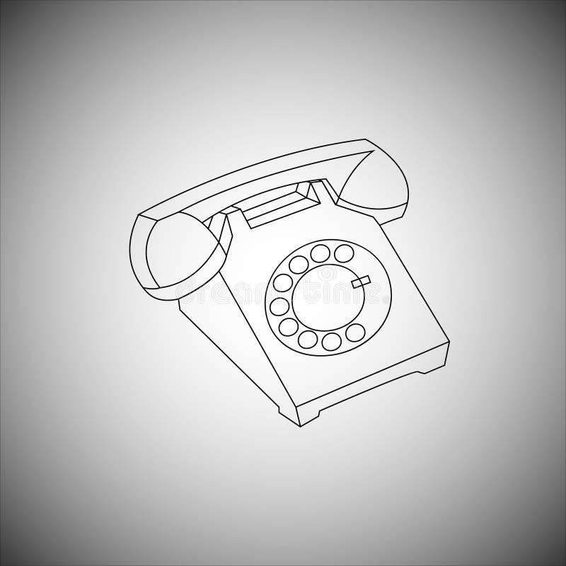 Alter TELEFONAPPARAT vektor abbildung