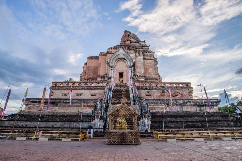 Alter Tempel in Nord von Thailand stockbild
