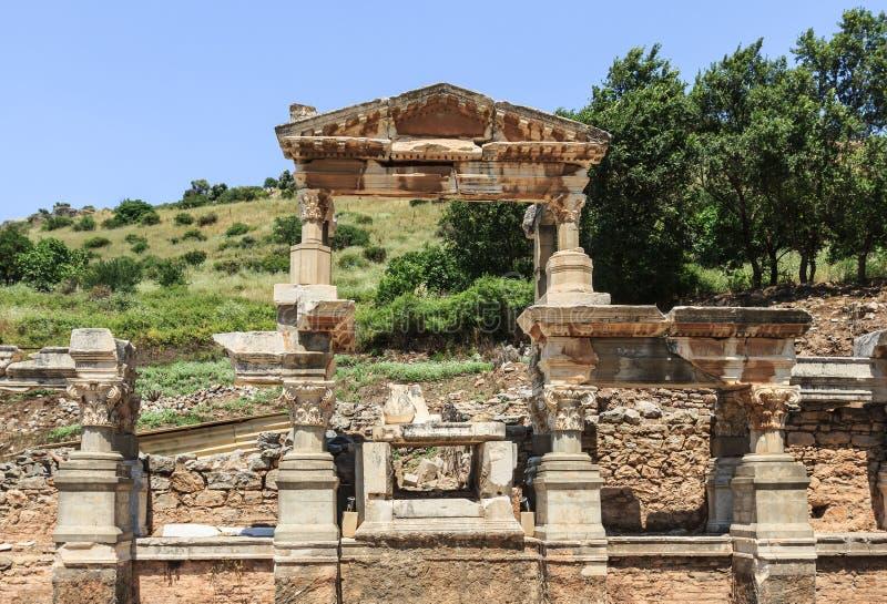 Alter Tempel von Ephesus lizenzfreie stockbilder