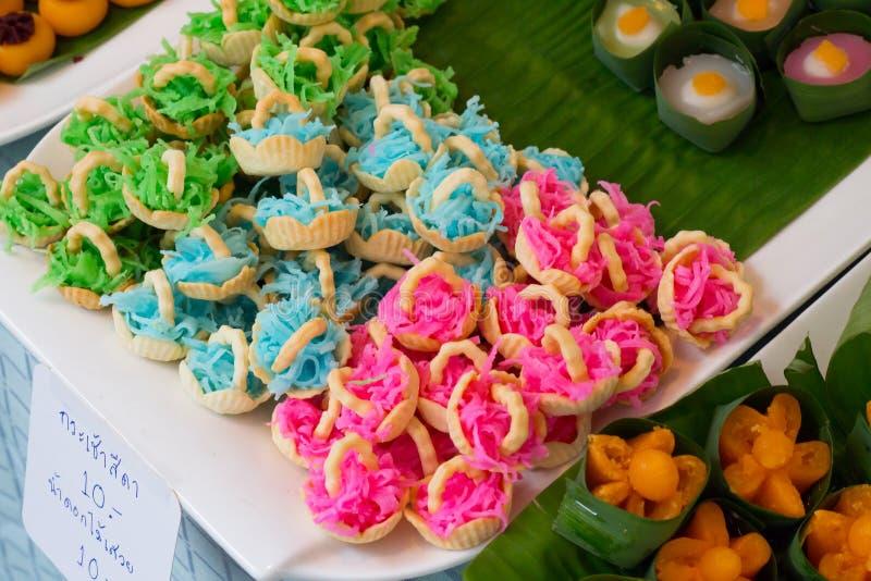 Alter thailändischer Nachtisch, Süßspeise lizenzfreies stockfoto