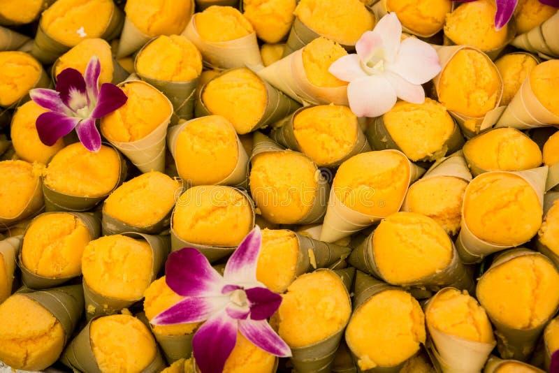 Alter thailändischer Nachtisch TAN-TA-NOD-BO-RAN, thailändischer Bonbon lizenzfreies stockbild
