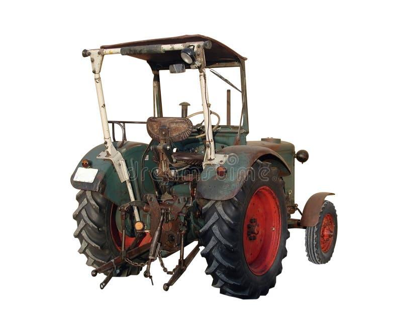 Alter Traktor von hinten lizenzfreie stockbilder