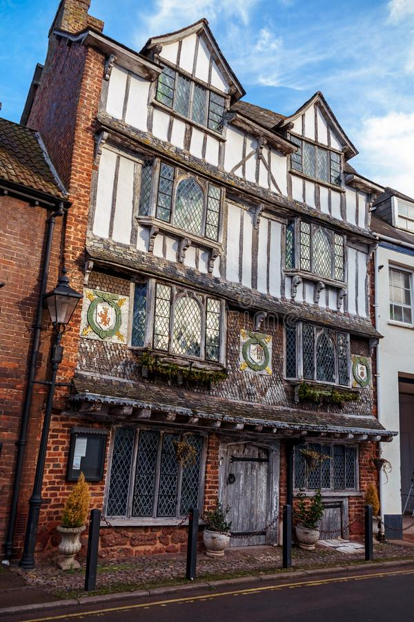 Alter Tudor House, Exe-Insel, 6 Tudor Street, Exeter, Devon, Vereinigtes K?nigreich, am 28. Dezember 2017 lizenzfreies stockbild