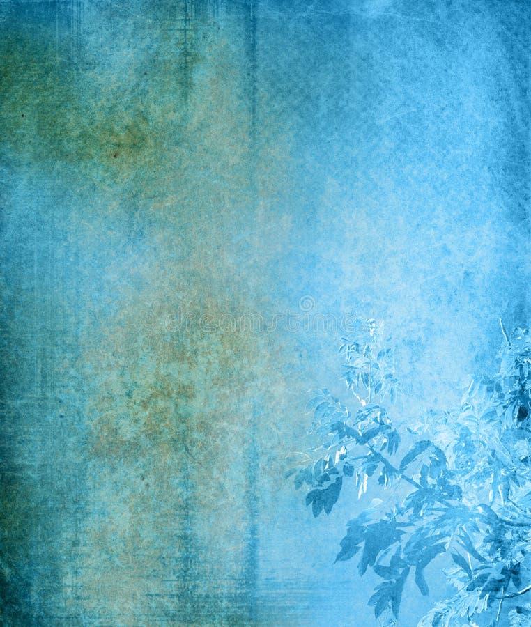 Alter und Blumenpapierbeschaffenheitshintergrund stockfotos