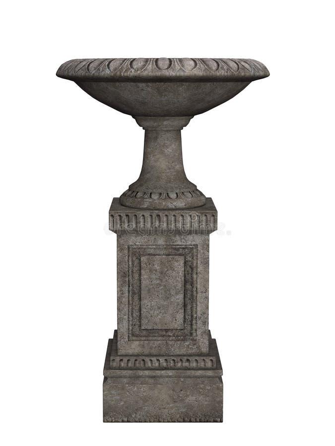 Alter Vase, Amphore stock abbildung