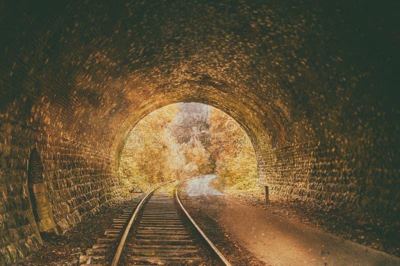 Alter verlassener Eisenbahntunnel lizenzfreie stockfotografie