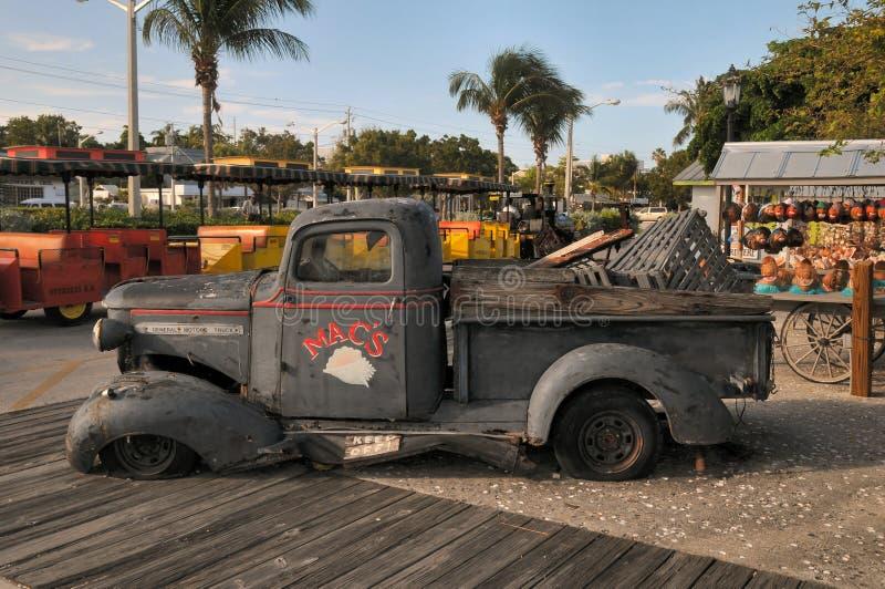 Alter verrosteter LKW, Key West Florida lizenzfreie stockfotos